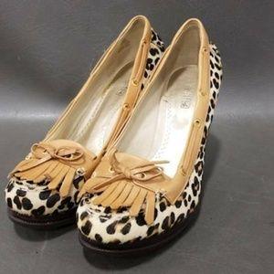 Sperry Top-Sider Womens Wedge Beige Cheetah